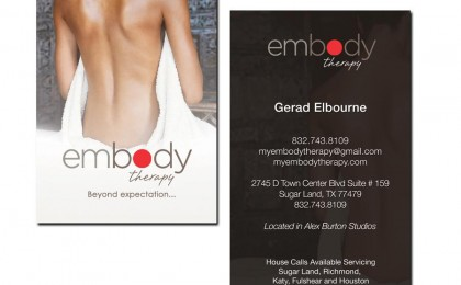 Embody Spa Business Card Design