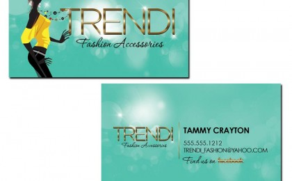 Trendi Fashion Business Card