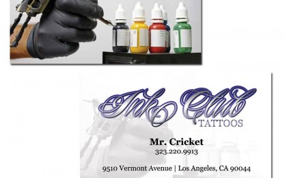 Tattoo Artist Business Cards